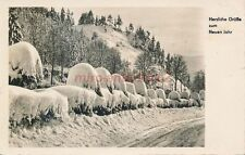 AK, Foto, Neujahrskarte - Winterlandschaft in Pößneck, 1969; 5026-76