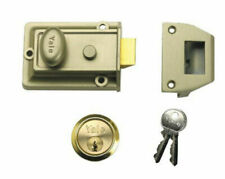 Yale P77 Traditional 60mm Bronze Nightlatch with PB Cylinder - Polished Chrome (P-77-ENB-PB-60)