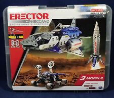 New  ERECTOR 18214 SPACE SET Meccano SHUTTLE Rocket MARS ROVER Metal 472 Parts