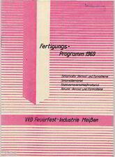 VVB Feuerfest Industrie Meißen Fertigungs Programm 1969 Schamotte Ofen Herd DDR