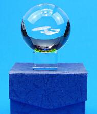 Star Trek USS Enterprise 1701d laser in sfera di vetro massello! decorativ! effetto 3d