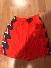 Nike NCAA University Of Illinois Fighting Illi Basketball Short Size XXL Orange