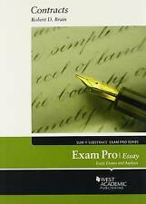 Brain's Exam Pro on Contracts, Essay, Paperback by Brain, Robert D., Acceptab...