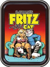 "Fritz the Cat - R. Crumb Stash Tin Storage Container 4.37"" L x 3.5"" W x 1"" H"