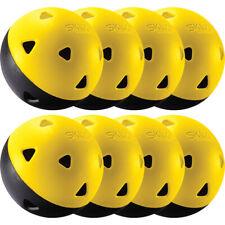 SKLZ Impact Practice Softballs 8-Pack - Black/Yellow