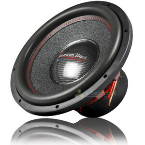 """American Bass Competition 15"""" Subwoofer 3000 Watts Max Dual 4 Ohm Hawk 1544"""