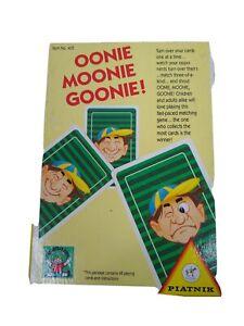 OOnie Moonie Goonie! Card Game Piatnik  Ages 8+  Box Wear no 405