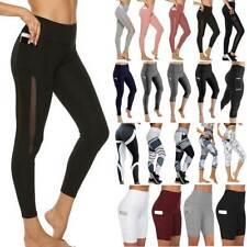 Womens High Waist Gym Leggings with Pocket Fitness Sports Running Yoga Pants G3