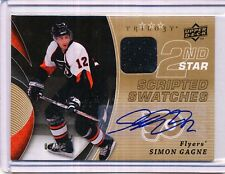 2008/09 UD TRILOGY AUTOGRAPH GAME/USED SIMON GAGNE 9/25
