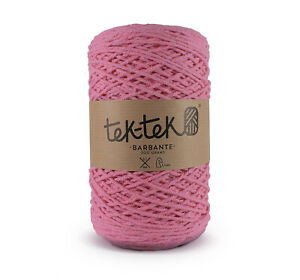 Crafting Cotton 6ply PINK New Cotton Knit Crochet Weave 220m washable