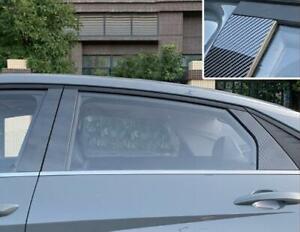 PC carbon fiber Window Strip Cover molding Trim*6 For Hyundai Elantra 2021-2022