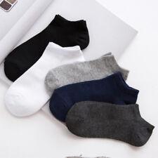 20Pair Mens Cotton Sport Short Soild Ankle Socks Casual Low Cut Non-Slip Hosiery