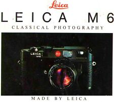1991 LEICA M6 RANGEFINDER CAMERA FACTORY BROCHURE -from 1991