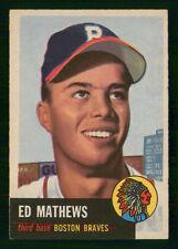 EDDIE ED MATHEWS 1953 TOPPS 53 NO 37 VGEX+  41181