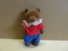 Simba Bärenwald Bär Papa Mann blaue Hose rotes T-Shirt weißer Kragen 11,5 cm