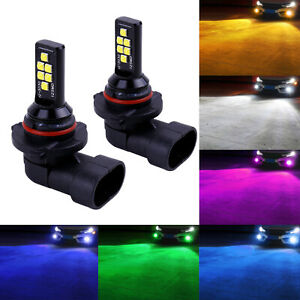 SOCAL-LED 2x HB4 9006 Fog Light Bulb High Bright Upgraded 3030 Colorful DRL Lamp
