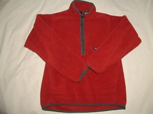 PATAGONIA SYNCHILLA Pullover Fleece Jacket,Small,Burnt Red,1/4 Zip,2 Pockets