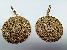 La Vie Parisienne by Catherine Popesco LACY MONTANA BLUE & GOLD ROUND EARRING