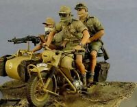 1:35 Resin Figure Model Kit North African German Soldiers no Bike Unpainted