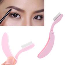 Foldable Steel Metal Eyebrow Comb Eyelash Extension Brush Cosmetic Makeup Tool L