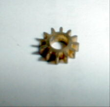 """10 Tooth Brass Pinion Gear 48 Pitch 1/8"""" shaft COX 1/32 1/24 scale slot car NOS"""