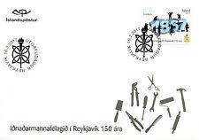 Iceland 2017 FDC Reykjavik Craftsmen Guild 150 Years 1v Set Cover Stamps