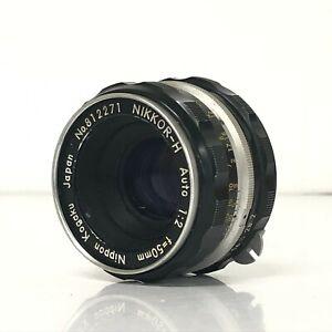 *EXC* Nikon Nippon Kogaku Nikkor-H Auto Non-Ai 50mm f/2 MF Standard Lens