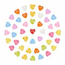 Lot 1,000pcs Acrylic Colourful Plastic Sewing Heart Button Costume DIY Making