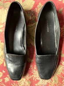 Enzo Angiolini Women's Leather Loafers 'Liberty' Black Size US 9M Flats