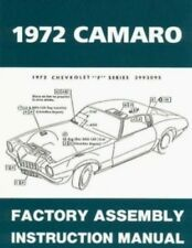 CAMARO 1972 Assembly Manual 72