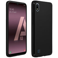Silicone case, Glossy & matte back cover for Samsung Galaxy A10 – Black