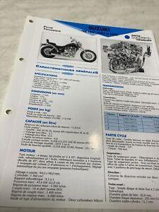 Suzuki VS1400 Intruder VX51L H 1987J 1988 Ficha Técnica Moto Rmt Stay Vs 1400