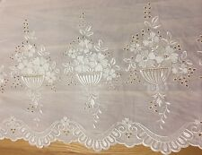 Fantastic Quality Cream With Gold Embroidery Floral Voile/Curtain 9 Yards x 60in