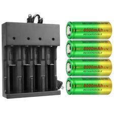 4x 26650 Rechargeable Battery 3.7V Li-ion Cell with Charger for Flashlight