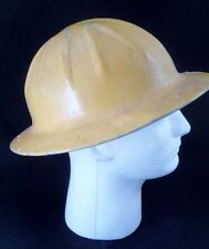 VTG Aluminum Construction Yellow Full Brim Hard Hat & Harness Stamped McGraw Co.
