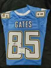 Antonio Gates Autographed Signed Light Blue Jersey Beckett Chargers