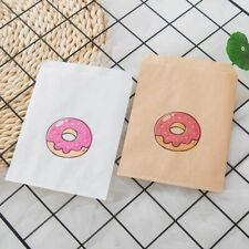 Paper Bags Donuts Packaging Party Needs Birthday Candies Food Storage Bag 25pcs