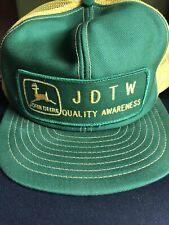 Vintage JOHN DEERE Snapback Trucker Hat Mesh patch Louisville Mfg Co USA