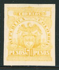 Colombia Early Mng Selections: Scott #323 50P Orange Yellow Cv$92+