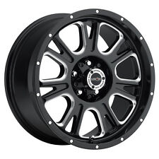 "18"" Vision 399 Fury Black Milled Wheel 18x8.5 5x150 25mm Toyota Tundra 5 Lug Rim"