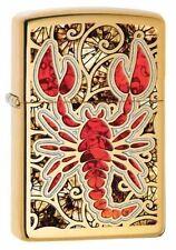 Zippo 29096, Scorpion-Fusion, High Polish Brass Finish Lighter,  Full Size