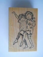 Delafield Stamp Company Rubber Stamp-Girl Friends- NEW