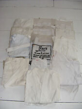 Joblot of 6 White GI's + 6 Tops + 2 Trousers, Various Sizes & Brands 100% Cotton