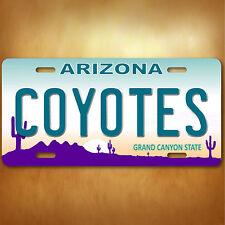 Arizona COYOTES NHL  Aluminum License Plate Tag New