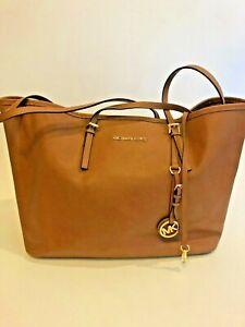 Michael Kors Extra Large Tote shoulder bag handbag Brown Textured Leather Gold