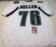 PHILADELPHIA EAGLES SHAREEF MILLER SIGNED WHITE CUSTOM JERSEY  JSA