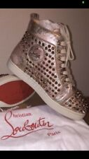 Baskets Sneakers Louboutin Or Gold