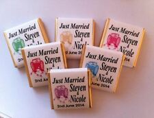 30 x Personalised Mint Chocolate Favour Wedding Just Married Car Any Colour