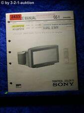 Sony Service Manual KV 28FD1E /K (#2433)