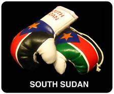 SOUTH SUDAN SUDANESE Flag Mini Boxing Gloves For Car
